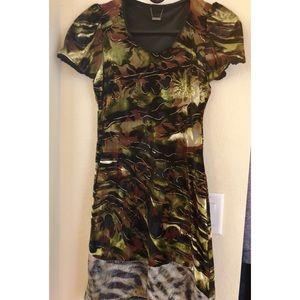 Custo Barcelona Camouflage dress